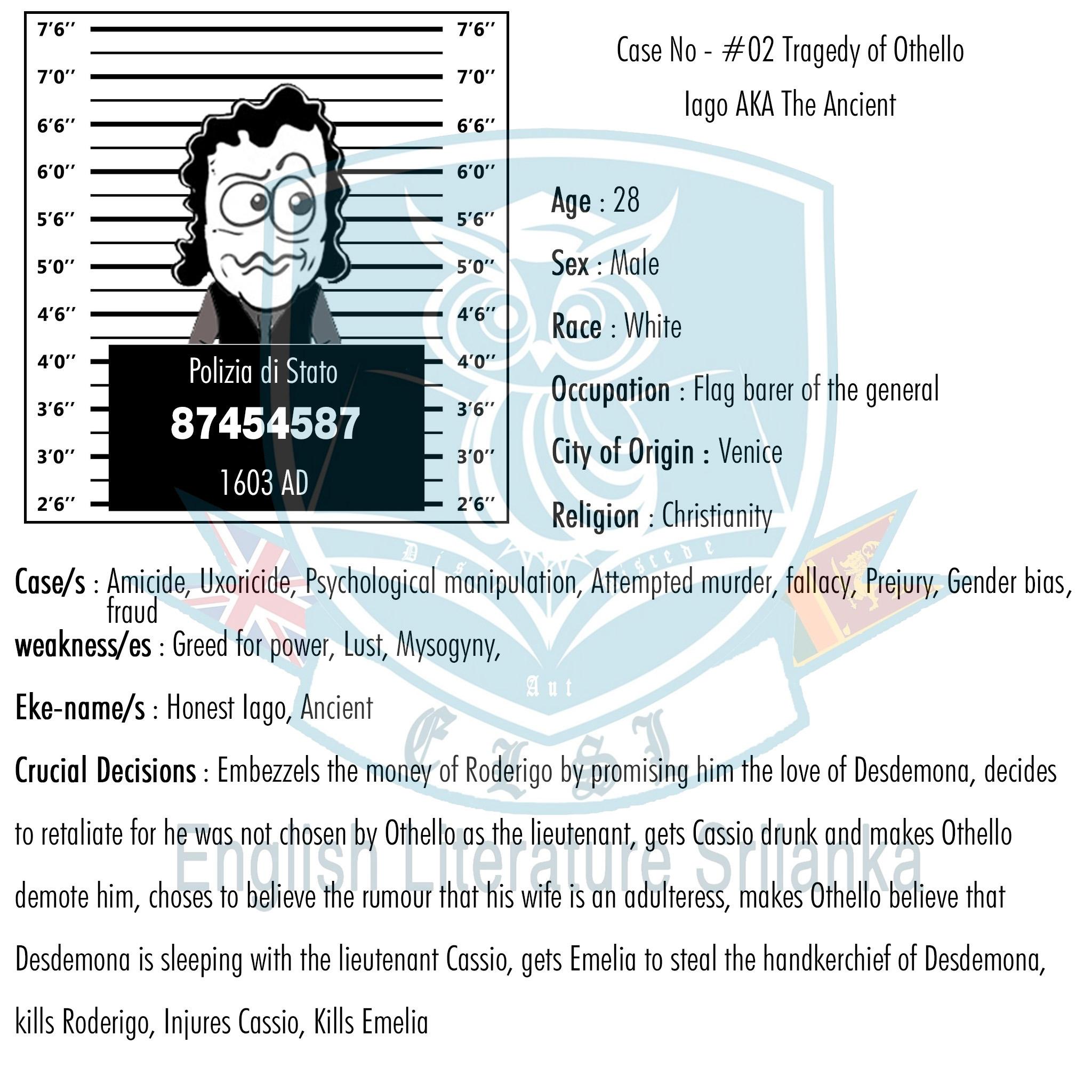 ELSL-Iago character summary