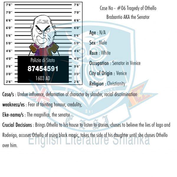 ELSL-Brabantio character summary